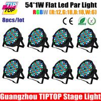 b flat sound - 2015 New Type Plastic Case RGBW Flat Led Par Light R G B W Single Color DMX Control Channels W