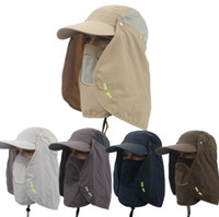Wholesale 2017 UV Protection Outdoor Multifunctional Flap Cap with Removable Sun Shield and Mask Perfect for Fishing Hiking Garden