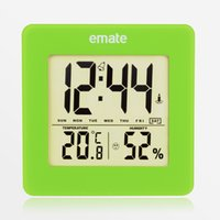 Wholesale Electronic LED thermometer and hygrometer digital LCD Thermometer hygrometer temperature and humidity meter household hygrometer