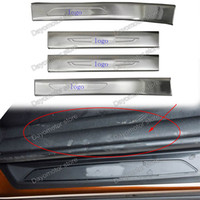 Wholesale Inner and Out Door Sill Strips Decorative Trim Cover For BMW X1 chrome Stick Car Styling LHD