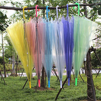Wholesale Custom Transparent Clear Umbrella long handle umbrellas parasol dome for wedding party favor dance performance advertising umbrellas