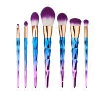 Wholesale 7Pcs set Unicorn Makeup Brushes Set Brochas Pinceis Unicornio Brush Facial Foundation Maquillaje Cosmetic Makeup Brush Kit