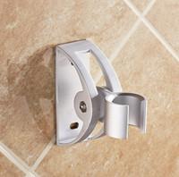 Metal Single Tier Aluminum Bathroom Hardware Sprinkler seat suction type nozzle support free adjustable showerhead drilling bathroom shower hose fittings.