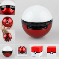 ar speakers - Pokeball Speaker Mini Wireless Bluetooth Support TF Card For Mobile Phone for AR game Pokemons with LED Light