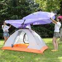aluminium construction - Hewolf Double layer Seasons Aluminium Tent Camping Hiking Persons Heavy rain Proof Tent New Arrival