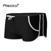 Wholesale Summer Style Sexy Swimsuit for Man Low Waist Men s Swim Trunks Pocket Swimming Boxer Shorts Gay Pouch sungas de praia homens