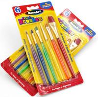Wholesale 6pcs set Fondant Cake Decorating Painting Brush Cake Color Pen Sugar Craft DIY Tool Retail Box Package