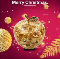 Wholesale 24K Gold foil golden apple Gifts Christmas Decoration promotional gifts fashion novel gift Christmas supplies DHL