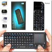Wholesale Rii mini X1 V3 Wireless keyboard for android tv box backlight gaming usb Air mouse With Touchpad G For Smart box mxq