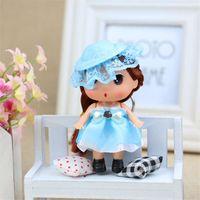 Fairy baby girl figurines - cm confused dolls in cap Wedding package sugar baby gift Bag manufacturer flower figurines