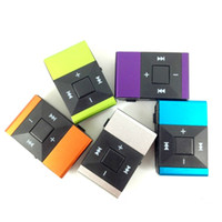 Wholesale 5 ts King Kong Folder MP3 Players Metal Clip No Screen Walkman Card Movement Push Button Walkmans Colorful High Quality