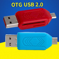 Wholesale 2 in USB Male To Micro USB Dual Slot OTG Adapter With TF SD Memory Card Reader GB GB For Android Smartphone Tablet Samsung