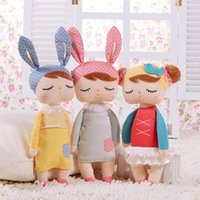 Wholesale kids Plush Dolls baby girl cosplay plush toys pink Rabbit Deer ballet girl Soft Stuff Dolls stuffed birthday gift with souvenir bag me too