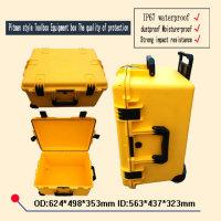 Wholesale Shock proof box waterproof safety trolley Tool case camera box hard Plastic sealed case tool box with pre cut foam lining mm