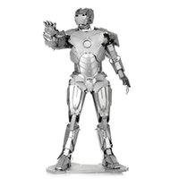 Wholesale 3d metal laser cut assembly model d metallic iron man puzzle toys musical instrument d puzzle Chirstmas gifts