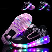 Wholesale Children Sneaker with Wheels Child Heelys Jazzy Junior Girls Boys LED Light Heelys Roller Skate Shoes with Wheels for Child