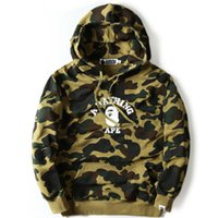 Wholesale Mens Hip Hop Streetwear Hooded Camo Print Hoodies and Sweatshirt Fashion Autumn Coat
