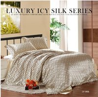 Wholesale new Chinese tencel silk luxury brand bedding set comforter set famous bed linen bed sheet