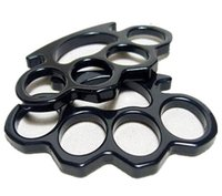 Wholesale Silver and Black New ARIVAL THIN STEEL BRASS KNUCKLES DUSTER BUCKLE DHL