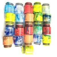 Wholesale Hottest Epoxy Resin drip tip Colorful Resin Wide Bore drip tips Mouthpiece for TFV8 Atomizer Tank Vaporizer with Single Retail Package DHL
