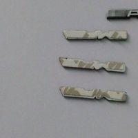 amg steering - 6pcs New Design For Mercedes AMG Aluminous Car Steering Wheel Emblem Sticker Car Metal Sticker AP130