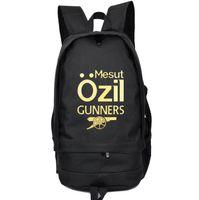 athletes hiking - Mesut Ozil backpack Football athlete school bag Soccer fans daypack Gunner schoolbag Outdoor rucksack Sport day pack