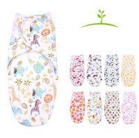 Wholesale Newborn Cotton Swaddle Wrap Baby Envelop Sleep Bag Sleepsack Infants Cartoon Animal Print Swaddle Blanket Swaddling Bedding Blankets F420