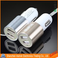 iPhone 6 best metal products - Best Metal V A Dual USB Port Car Charger With Ring Led Light for Universal Smart Phone And electronic product
