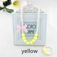Wholesale South Korean children s necklace candy color pearl necklace of the girls Baby birthday children green necklace