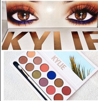 Wholesale New Year Kylie The Royal Peach Palette colors eyes powder vs Holiday Palette Kyshadow Chrismas Gift free DHL