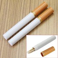 Wholesale Fashion Portable Cigarette Shaped Secret Stash Diversion Pill Box Toothpick Container Case tandenstokers houders