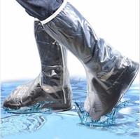 best men rain boots - Men Women Rain Shoes Cover Waterproof High Boots Flats Slip resistant Overshoes Rain Gear Your Best Choice