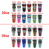 Wholesale 20oz oz Color Yeti Rambler Tumbler Stainless Steel Vacuum Insulated Cup Double Walled Travel Mug