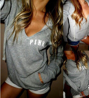 Wholesale New Women Hoodies Brand Bts VS Pink Print Hoodie Frenchterry Sweatshirts Fashion Harajuku Tracksuit Tops