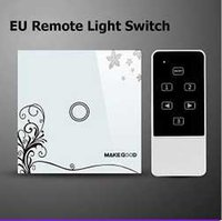 Wholesale Makegood EU Standard Touch Screen Glass Panel and Remote Control Light Switch Gang Way Smart Home Electrical Wall Switches