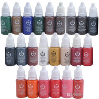 Wholesale bottles ml Permanent Makeup Ink Biotouch Micro pigment oz eyebrow ink cosmetic ink you choose colors Free DHL
