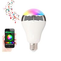 Wholesale V V W E27 Wireless Bluetooth Speaker RGB Color Smart LED Light Bulb Lamp Home Illumination Dimmable Color Changing APP