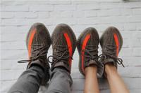 al por mayor calzado deportivo de color naranja-2016 1: 1 Mens Women 350 V2 boost zapato naranja gris zapatillas zapatillas zapatillas de deporte zapatos de corte bajo zapatos deportivos mejor precio con caja original