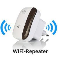 achat en gros de wi boosters fi-Amplificateur de signal de répéteur sans fil WiFi 802.11N / B / G Gamme Wi-Fi Extander Amplificateurs de signal 300Mbps Repetidor Wifi Wps Cryptage