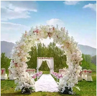 Wholesale 1 Meter Long Artificial Simulation Cherry Blossom Flower Bouquet Wedding Arch Decoration Garland Home Decor Supplies
