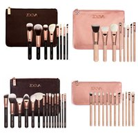 Wholesale 2016 Hot Sale ZOEVA Makeup brush piece Professional Brush Kit With Rose Golden Free DHL