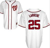 Wholesale 25 Adam LaRoche washington JERSEY shirts size S small xl
