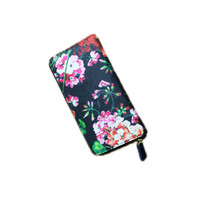 american advance - HUIPIN Newest Advanced design Fashion Women purse Zipper Around wallet Flower pattern female Wallets Handbags Retro Brand wallet
