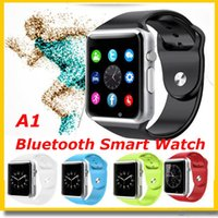 Wholesale A1 WristWatch Bluetooth Smart Watch DZ09 GT08 Sport Pedometer With SIM Camera Smartwatch For Apple IOS Samsung Android Phones Free DHL Ship