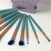 Wholesale Spectrum Brushes Mermaid Dreams Piece Vegan Brush Set Glam Clam Case Vegan Brush DHL