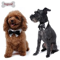 Wholesale Gentleman dog clothing Pet Supplies Cats Dog Tie Wedding Accessories Dogs Bowtie Collar Holiday Decoration Christmas Grooming