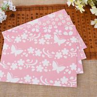 Wholesale set Kawaii Sakura Envelope Romantic Series Lover Letter Storage Paper Bag Window Hot Sale Pink Envelope