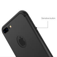 al por mayor teléfonos móviles-Slim Silicone Case for iphone 7 6 6s 5 5s Cubierta Candy Colores Soft 065mm TPU Matte Phone Case Shell con DUST CAP para Apple iphone 7 plus