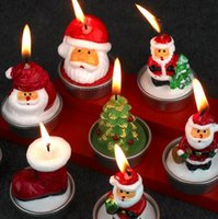 Wholesale Rare New Mini Santa Claus Christmas Candles Plant Decor Home Table Garden kawaii home Decoration Xmas Gift