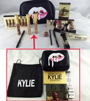 Wholesale Kylie Jenner Liquid Lipstick Kit Makeup Gift Bag Lip Gloss Birthday Collection Holiday Bundle Kyliner Shadow Cosmetics Valentine Women s Day